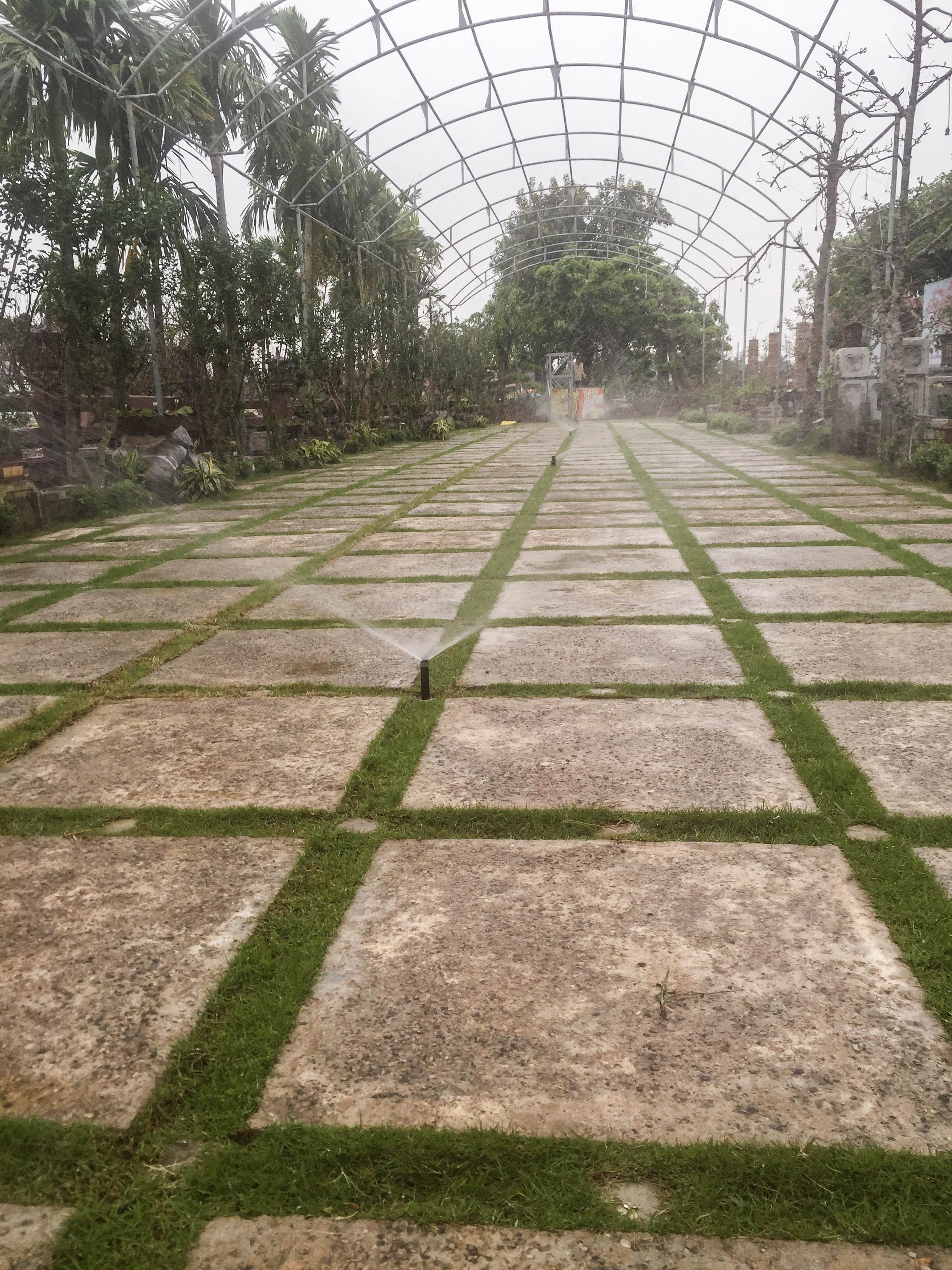 tưới tự động cho sân vườn