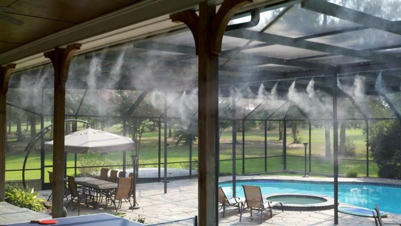 hệ thống tưới phun sương làm mát